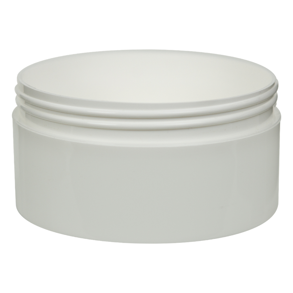 16 oz. White Polypropylene Straight Sided Thick Walled Jar with 120/400 Neck (Cap Sold Separately)