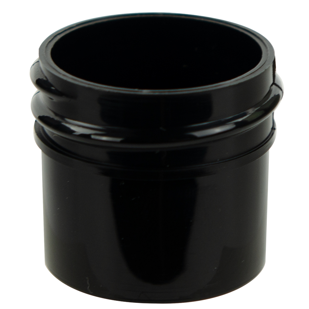 1/4 oz. Black Polypropylene Straight Sided Jar with 33/400 Neck (Cap Sold Separately)