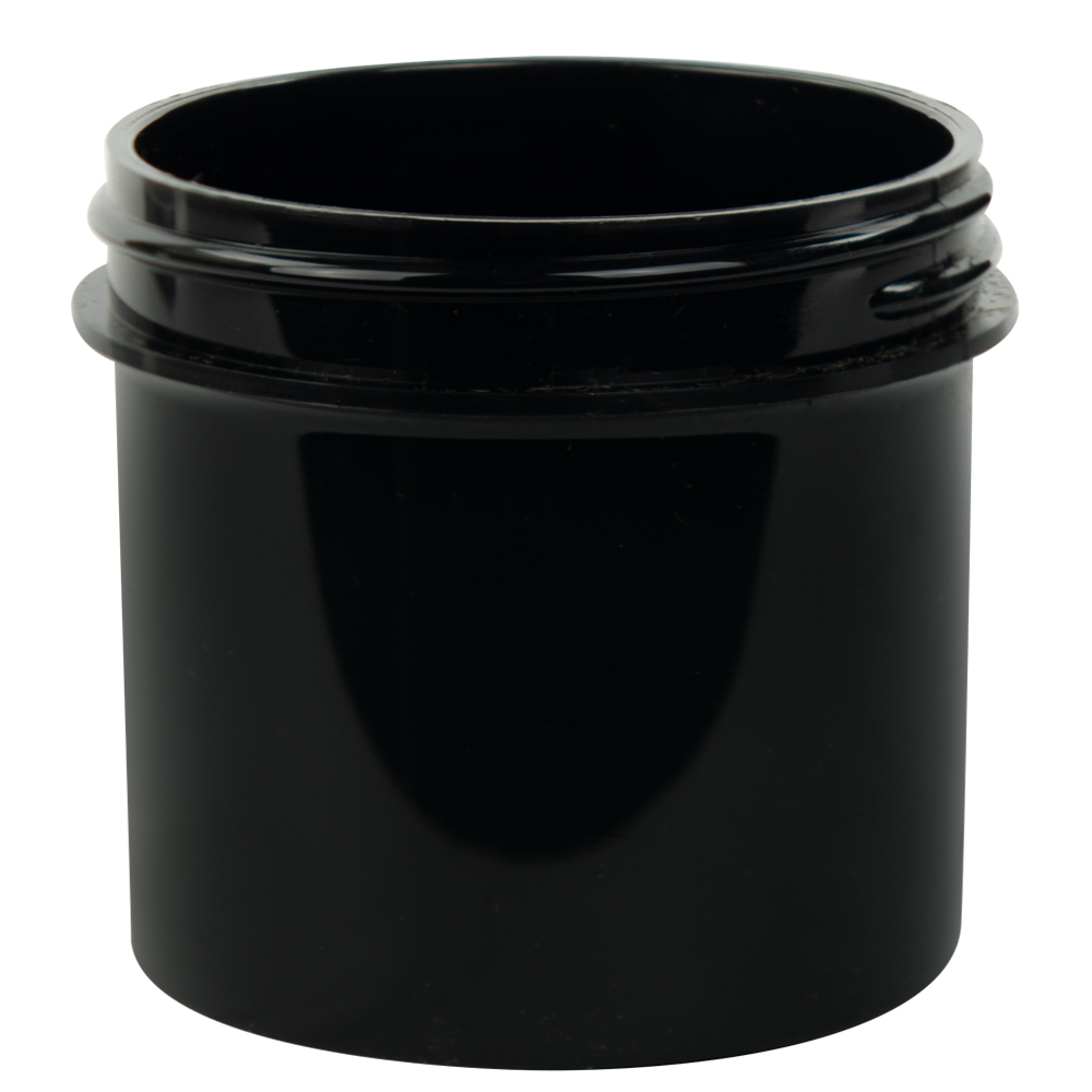 3 oz. Black Polypropylene Straight Sided Jar with 58/400 Neck (Cap Sold Separately)