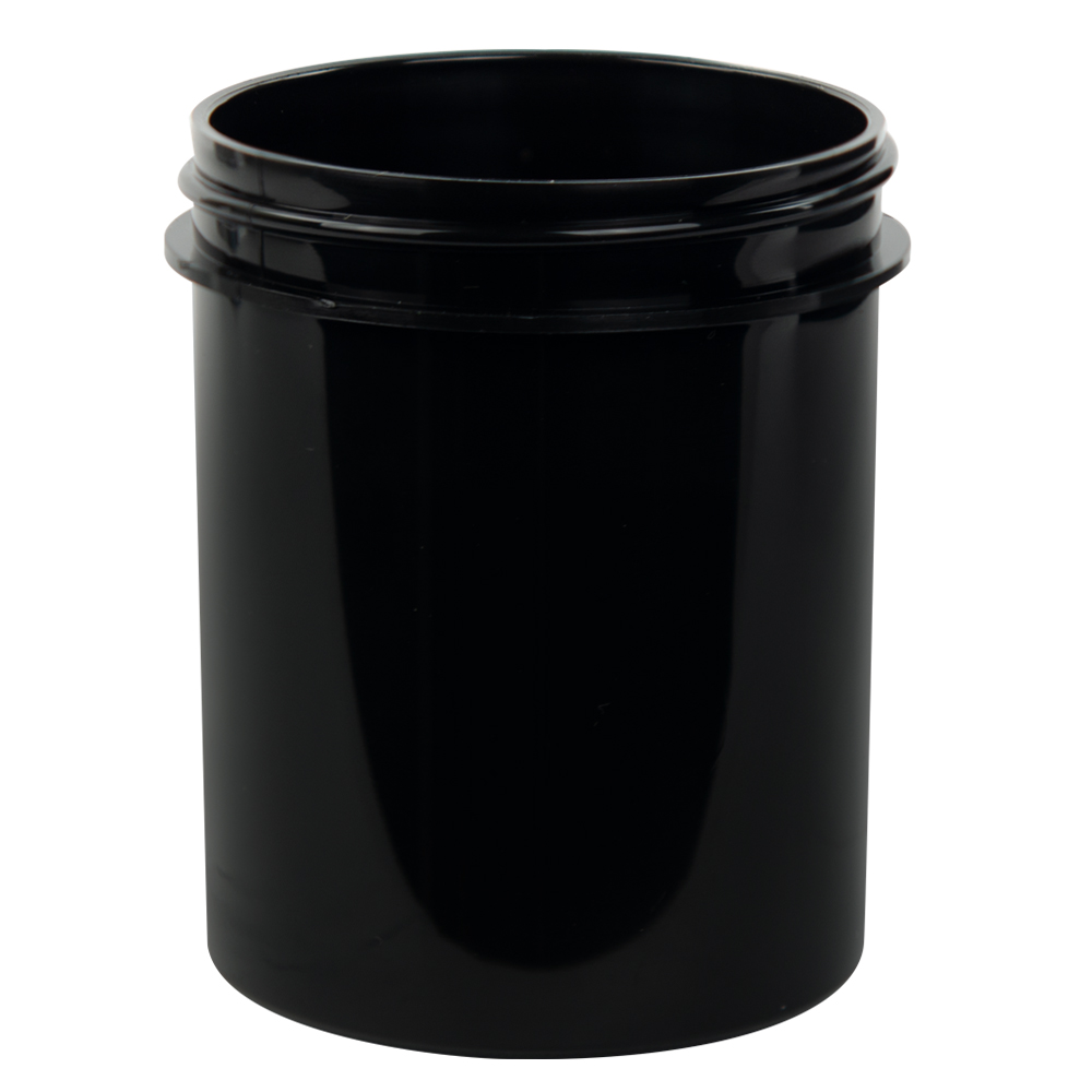 4 oz. Black Polypropylene Straight Sided Jar with 58/400 Neck (Cap Sold Separately)