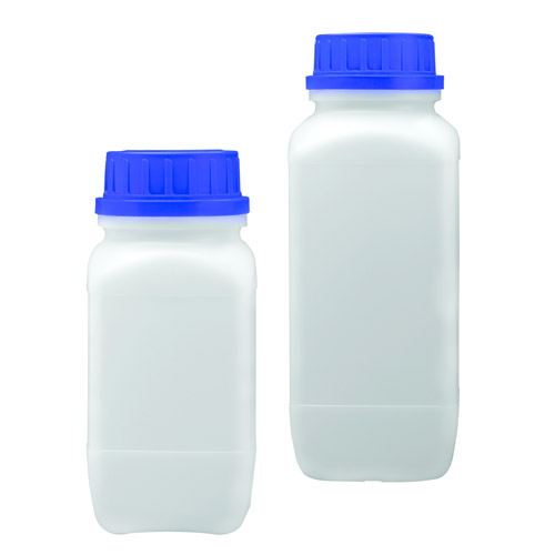 500mL HDPE Wide Mouth Square Bottle with 53mm Tamper-Proof Cap