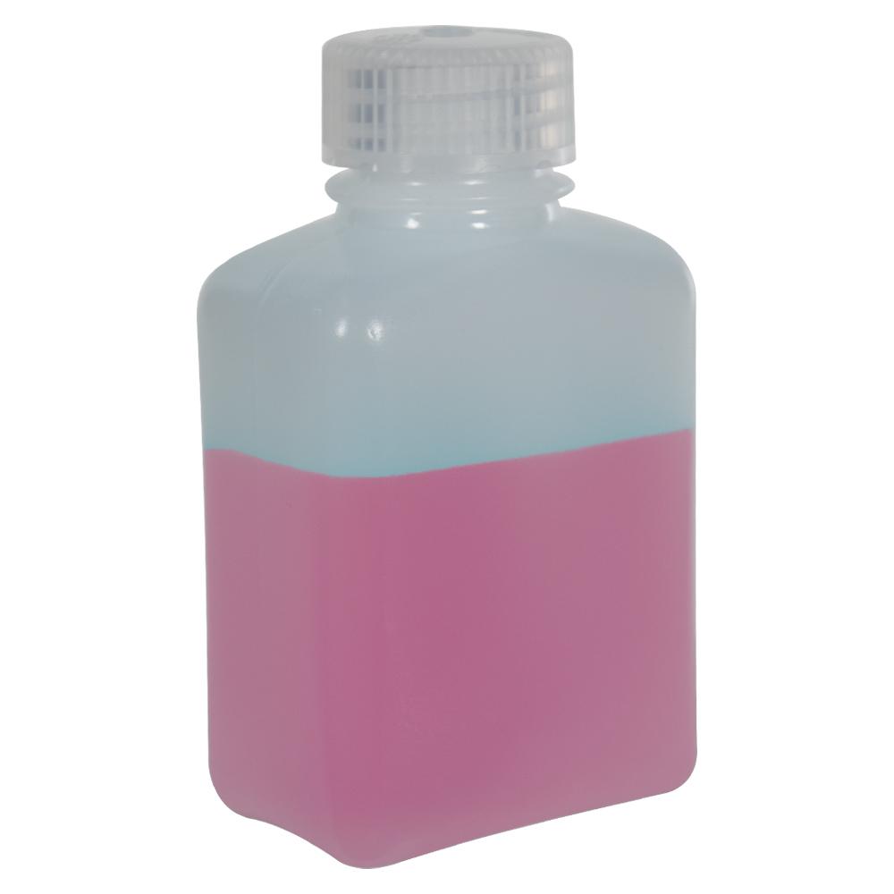 4 oz./125mL Nalgene™ HDPE Rectangular Bottle with 28mm Cap
