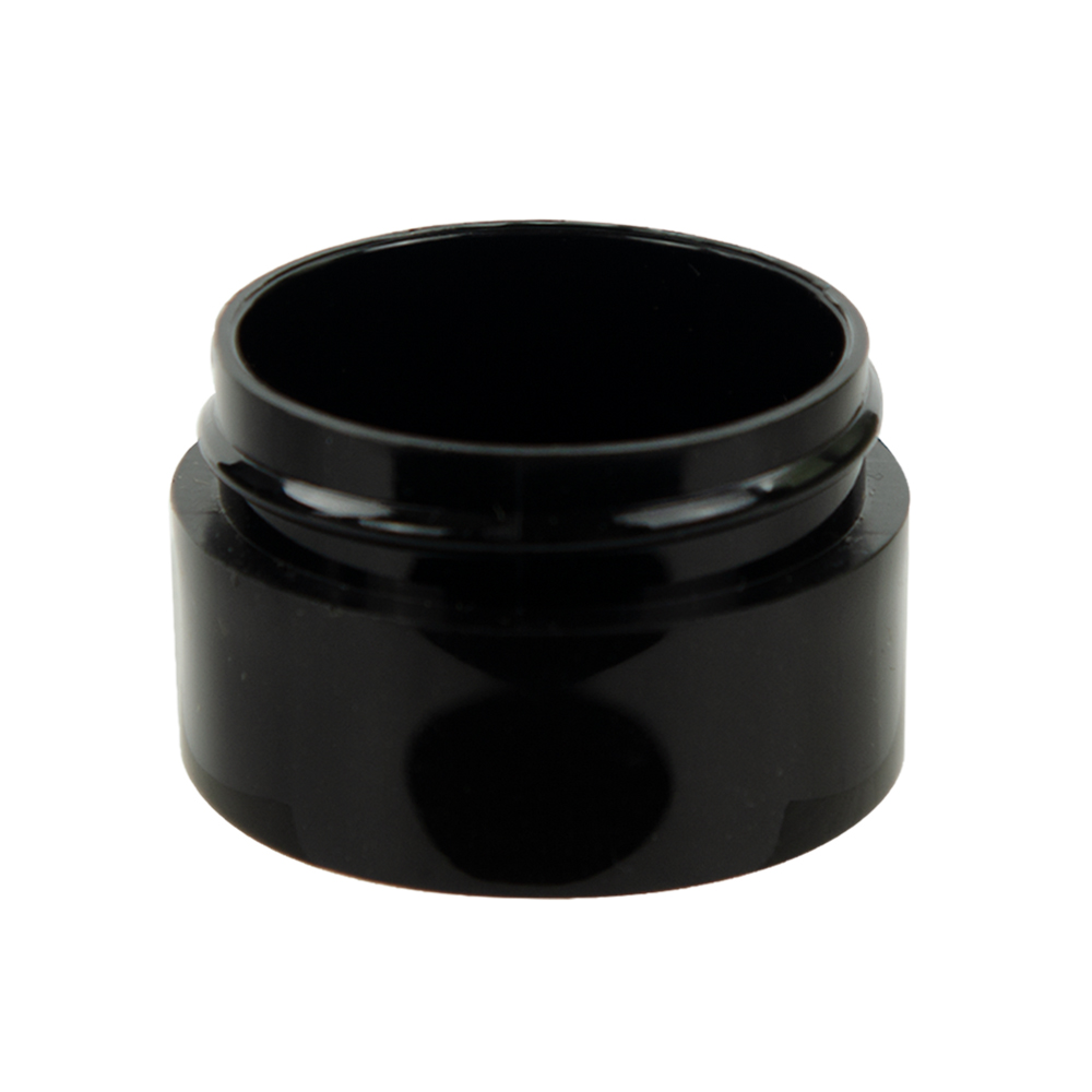 1/2 oz. Black Polypropylene Thick Wall Straight Sided Jar with 43/400 Neck (Cap Sold Separately)