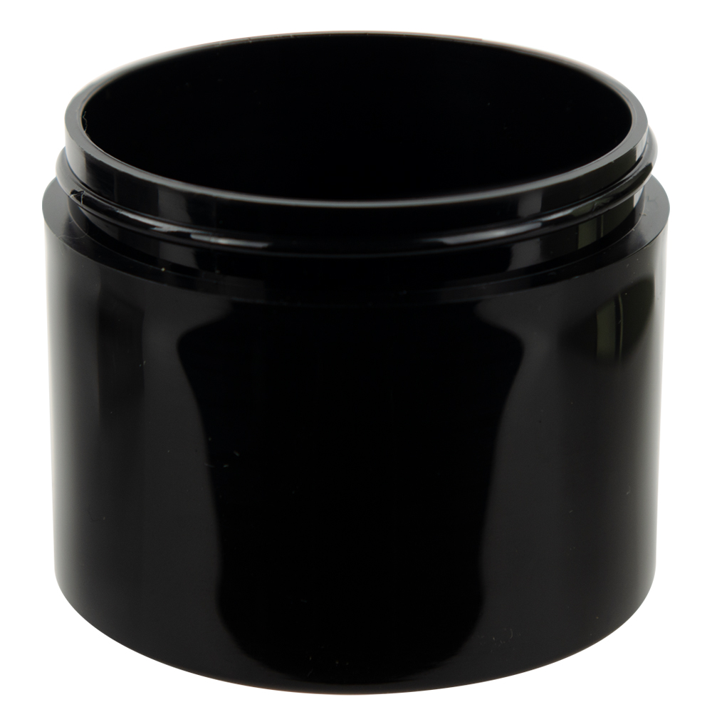 4 oz. Black Polypropylene Thick Wall Straight Sided Jar with 70/400 Neck (Cap Sold Separately)