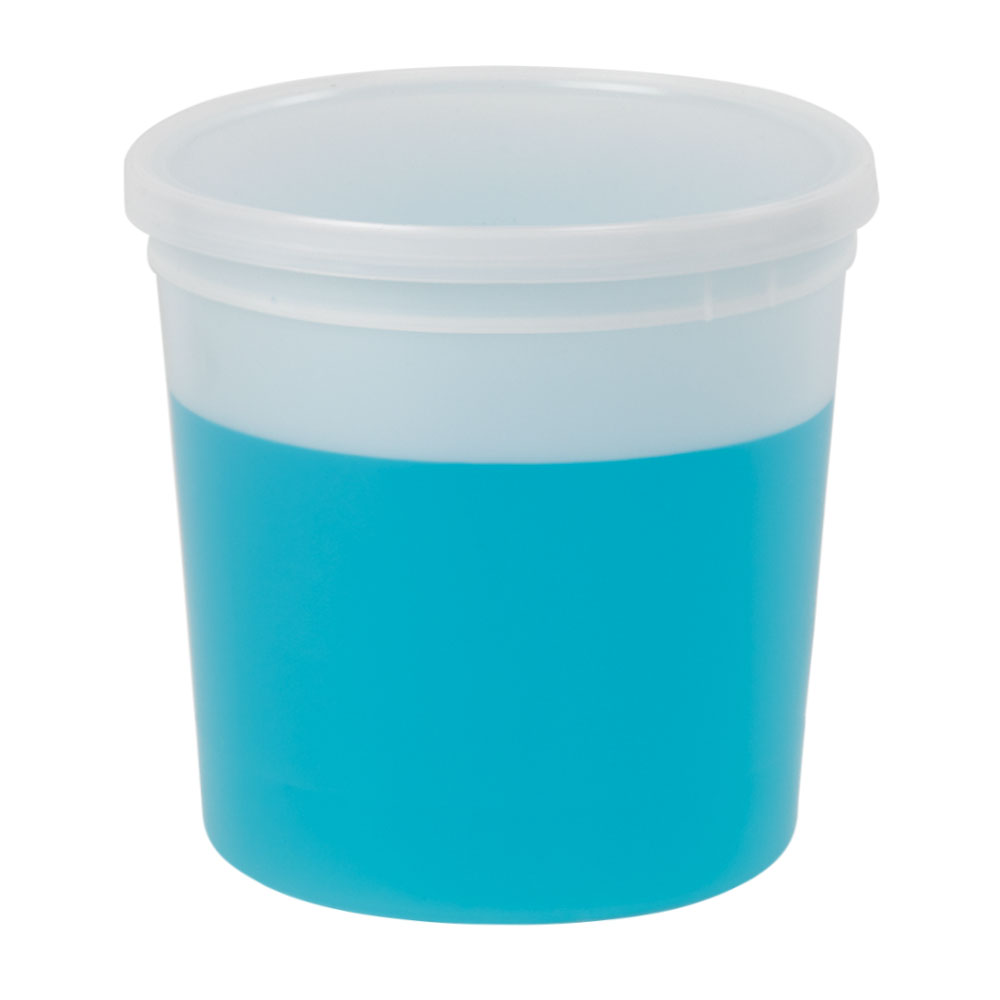 83 oz. Natural Specimen Containers with Lids - Case of 25