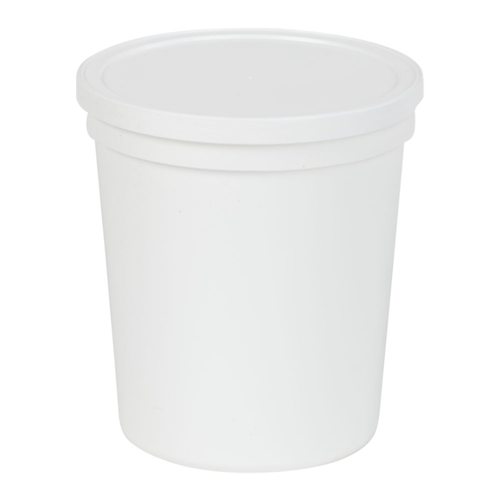 "White 32oz Specimen Containers 4.6"" Diameter x 5.3"" Height 100 per case"