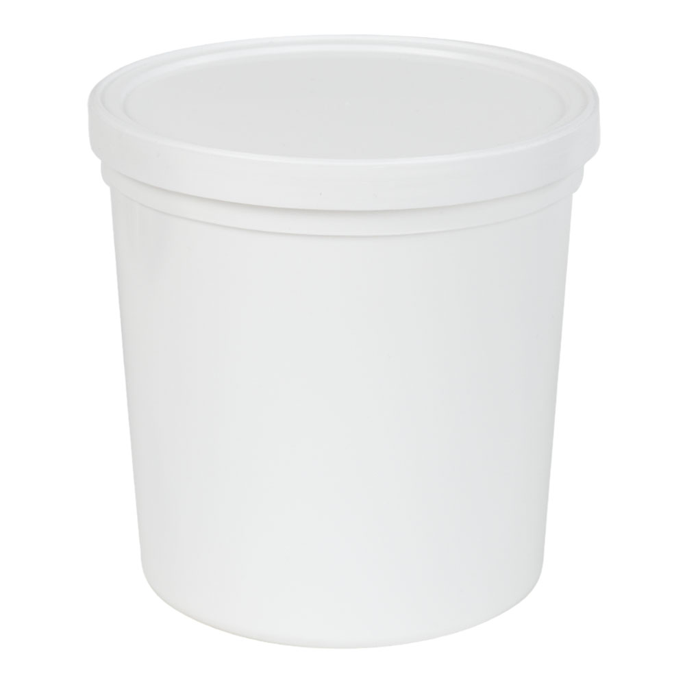 64 oz. White Specimen Containers with Lids - Case of 50