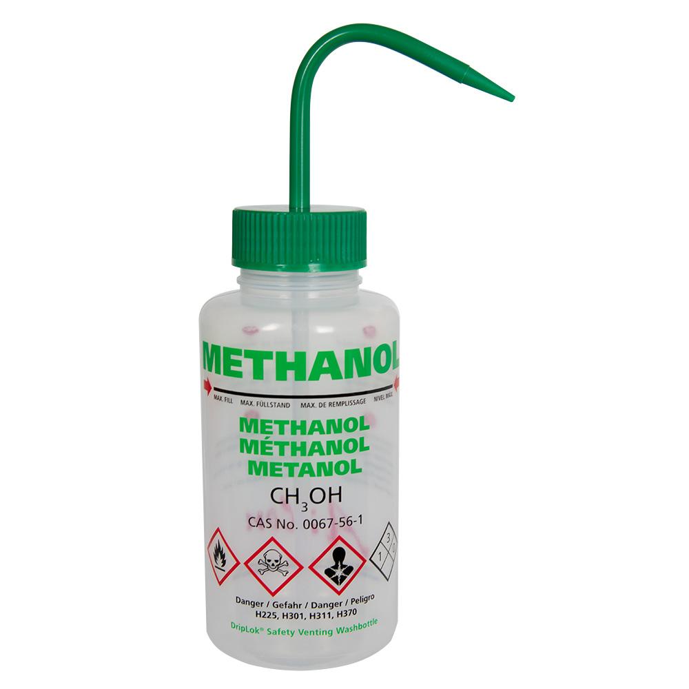 500mL Methanol Vented Multi-Lingual Wash Bottles