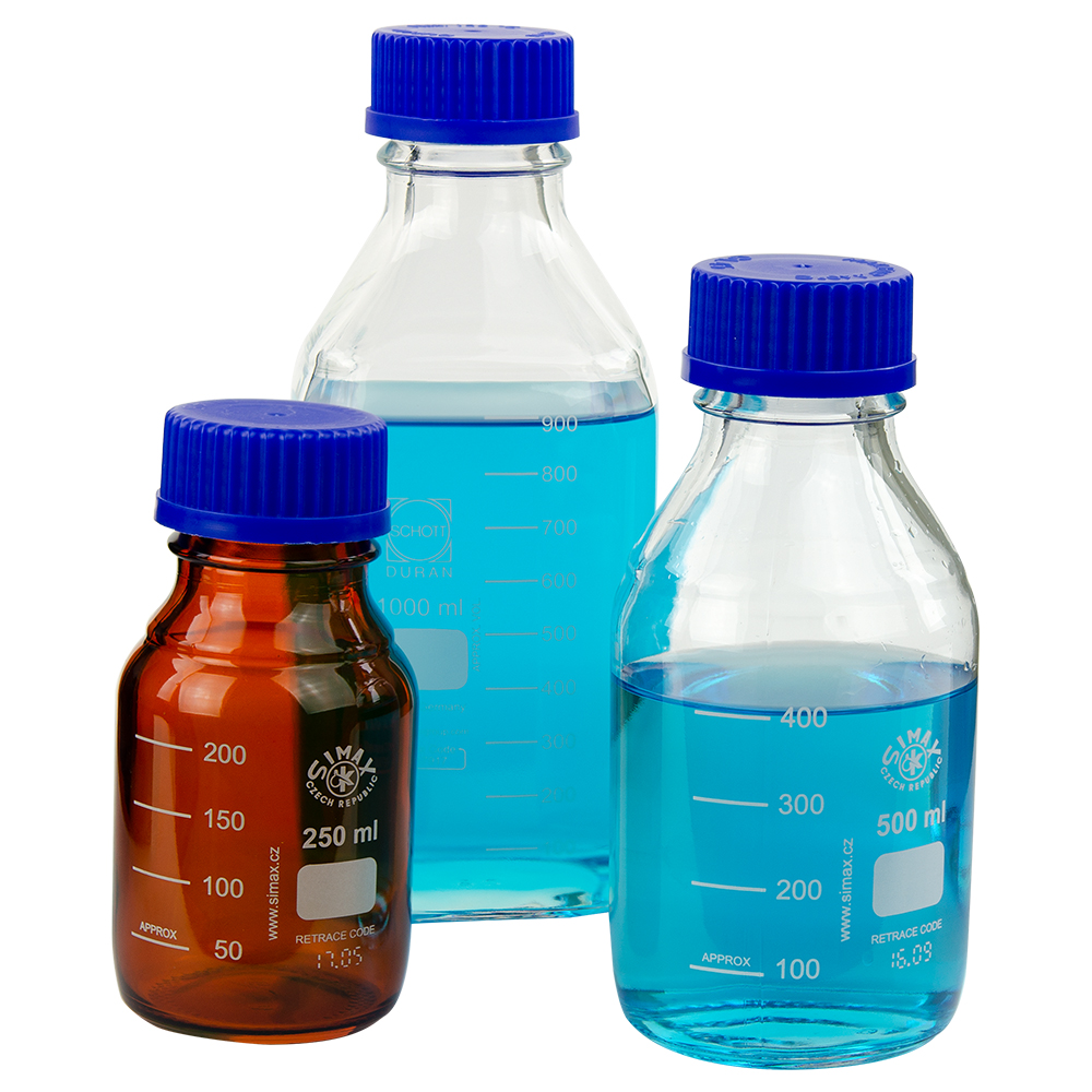 Media Bottles with Caps