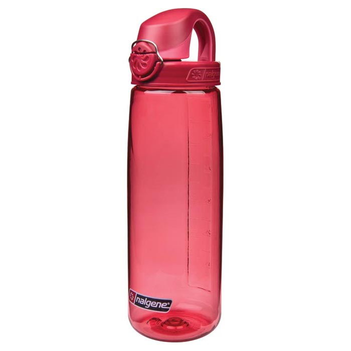 24 oz. Red Nalgene® On The Fly Tritan Water Bottle with Beet Red Cap