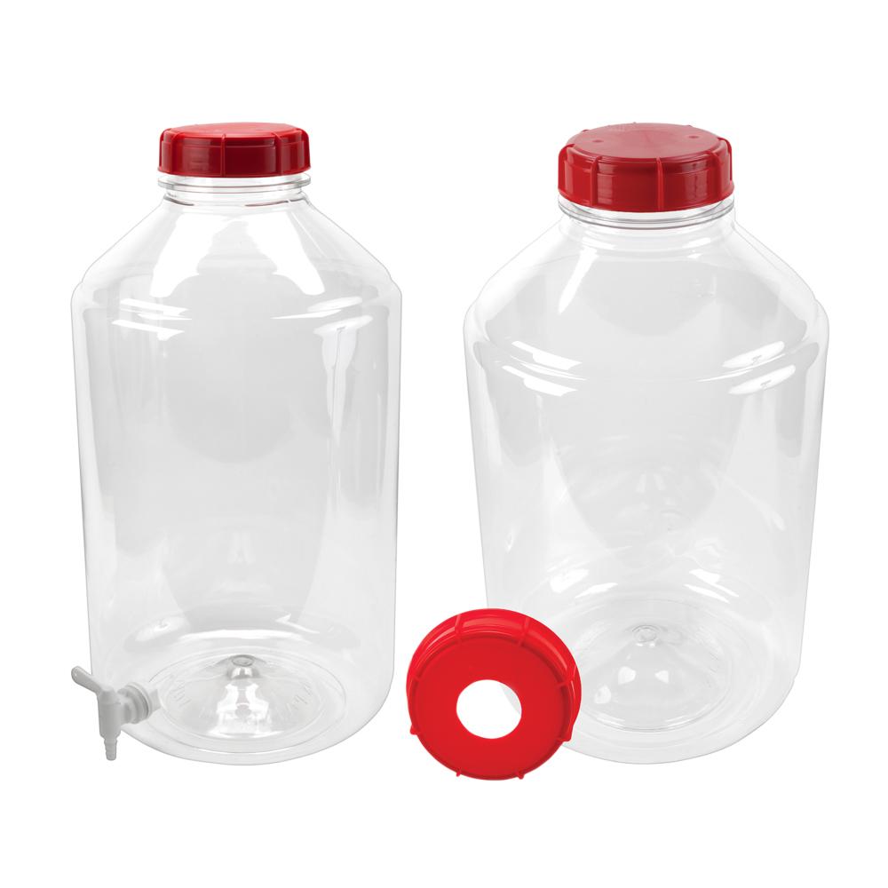 Transparent 6 Gallon PET Carboy & Accessories