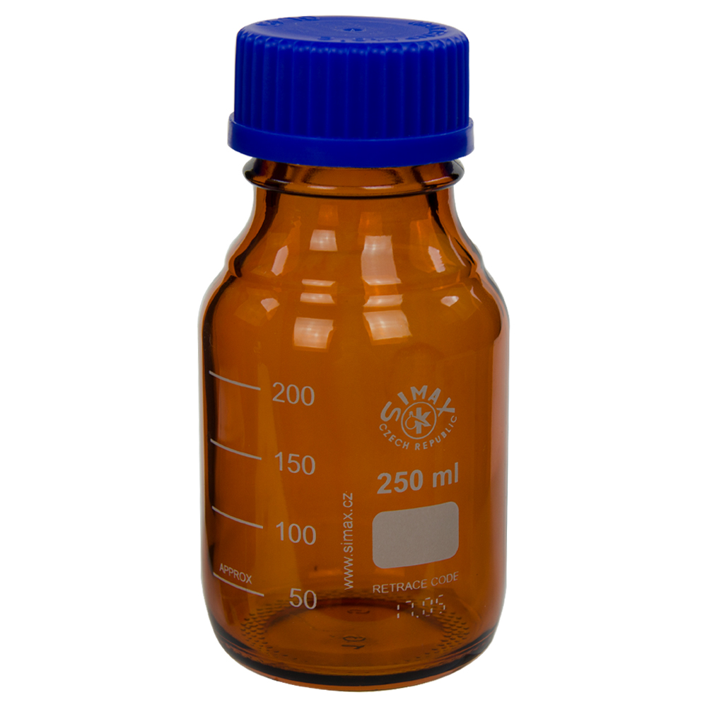 250mL Amber Glass Media/Storage Bottle