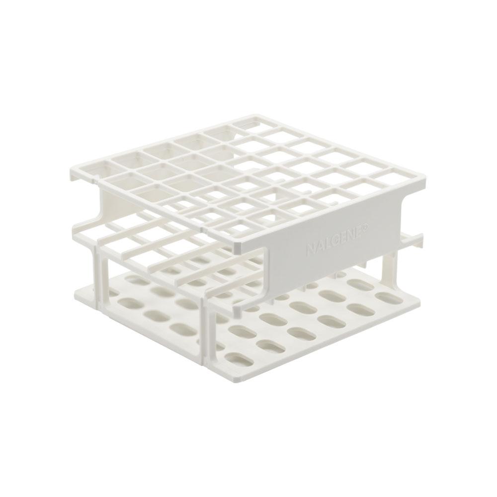 White 13mm Tube Size, 102 x 102 x 56, Array is 6 x 6 Nalgene™ Uniwire™ Half-Rack