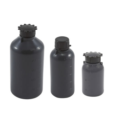 Kartell Graduated Gray LDPE Bottles with Caps