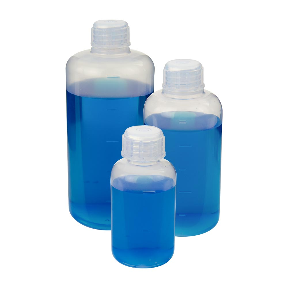 Chemware® PFA Graduated Narrow Mouth Bottles with Caps