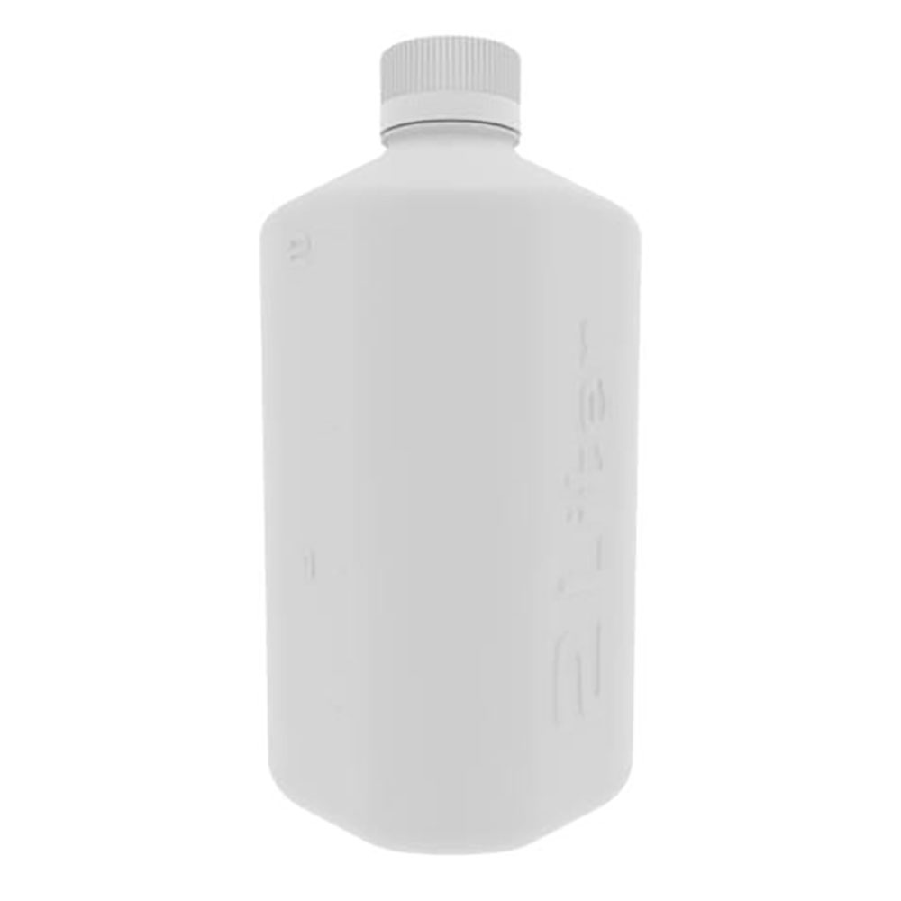 2 Liter White PP Boston Square Bottle with GL45 Cap