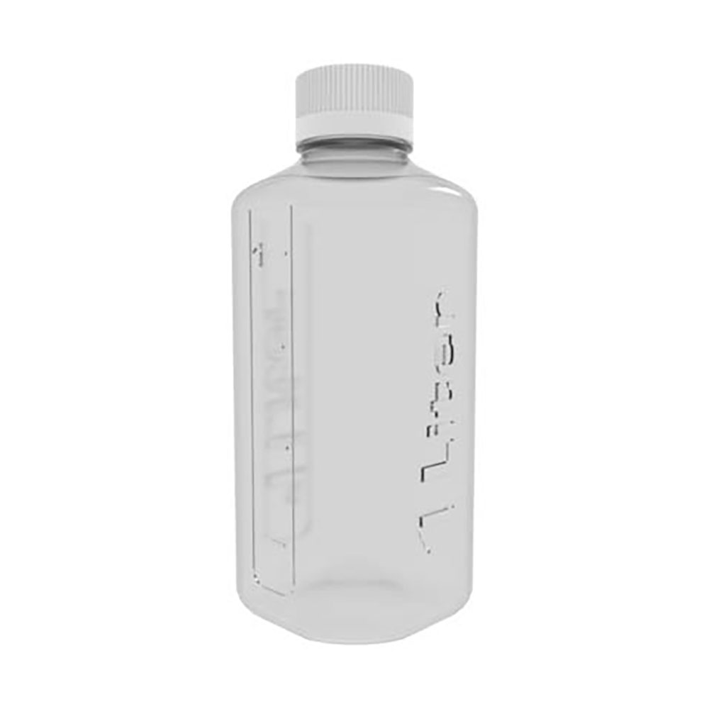 1 Liter Clear PETG Boston Square Bottle with GL45 Cap