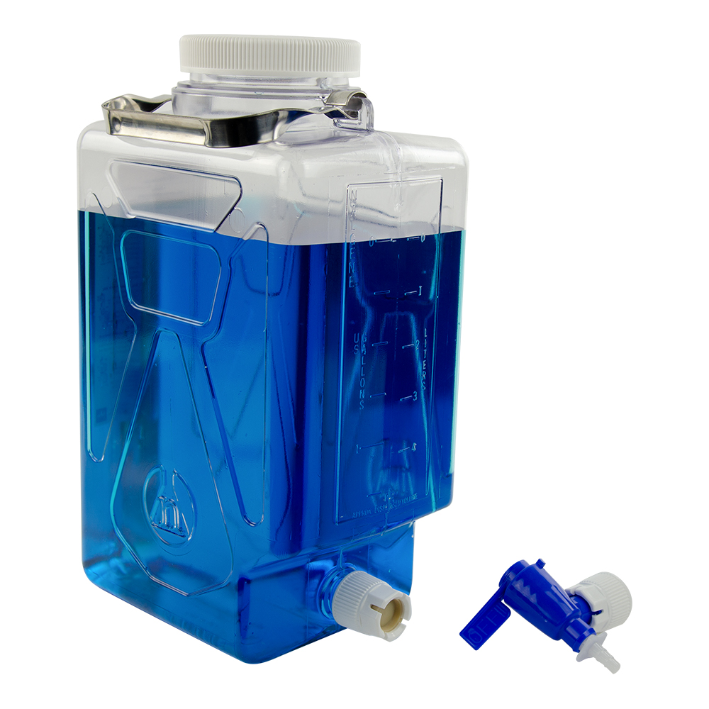 7.6 Liter/2 Gallon Rectangular Nalgene™ Clearboy™ Container with Spigot