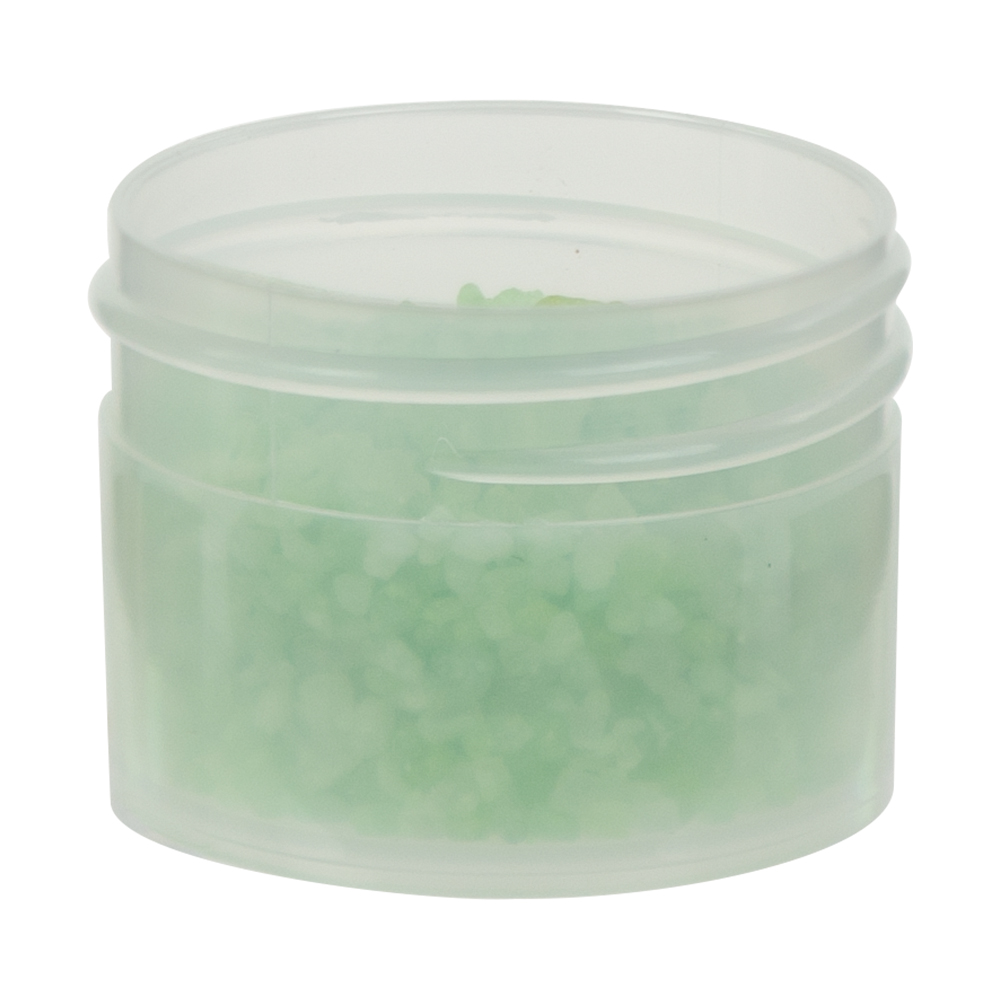 2 oz. Clarified Polypropylene Straight Sided Jar with 43/400 Neck (Cap Sold Separately)