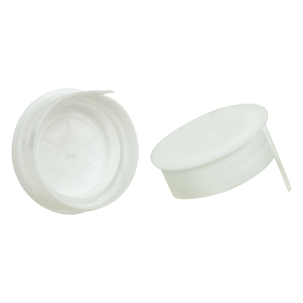 38mm White STT LDPE Tamper Evident Snap On Cap