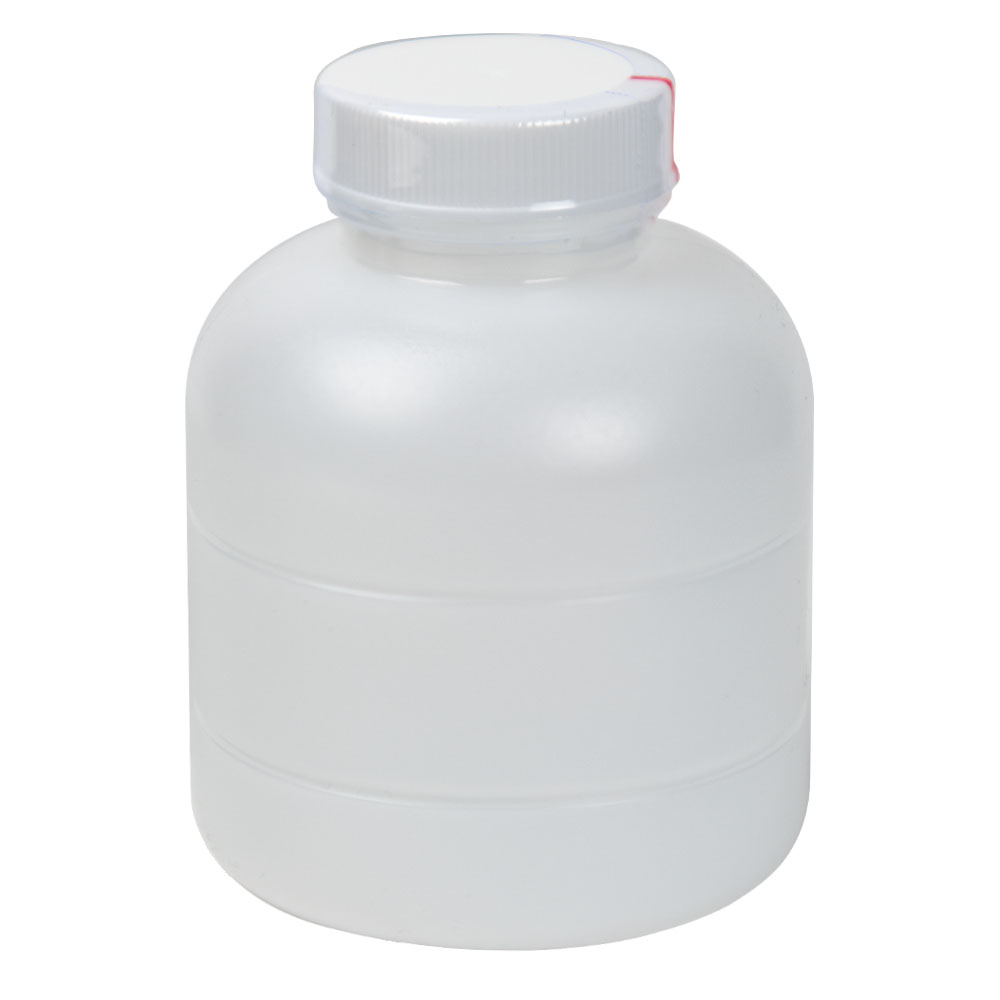 8 oz. HDPE Bottle with Clear TE Band