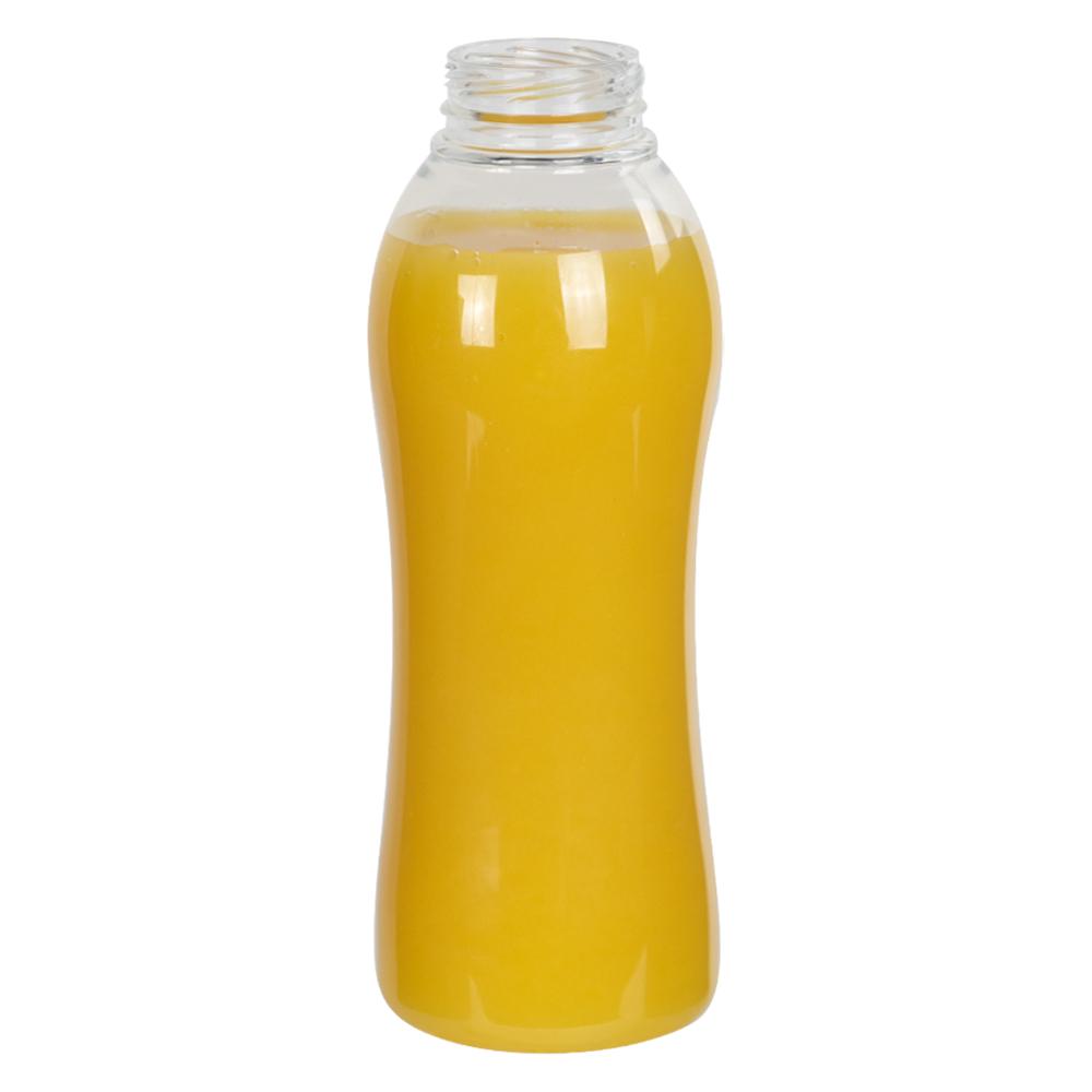 PET Hourglass Beverage Bottle & Screw Caps