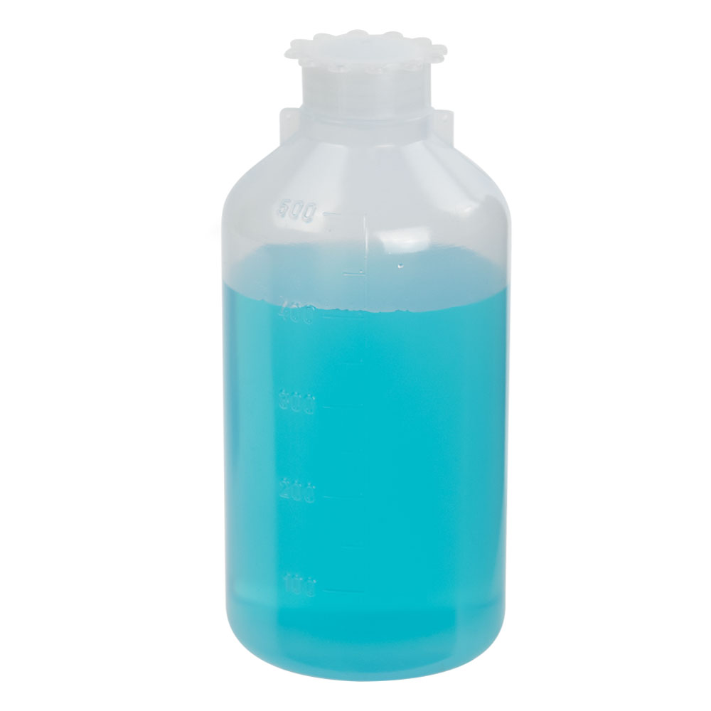 500mL Narrow Mouth Graduated LDPE Bottle with Cap