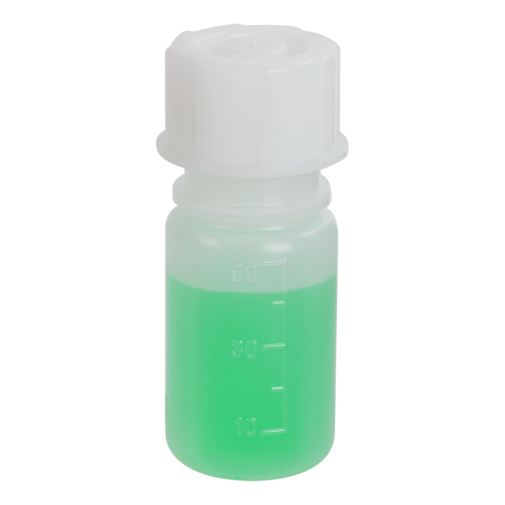 50mL Wide Mouth Graduated LDPE Bottle with Cap
