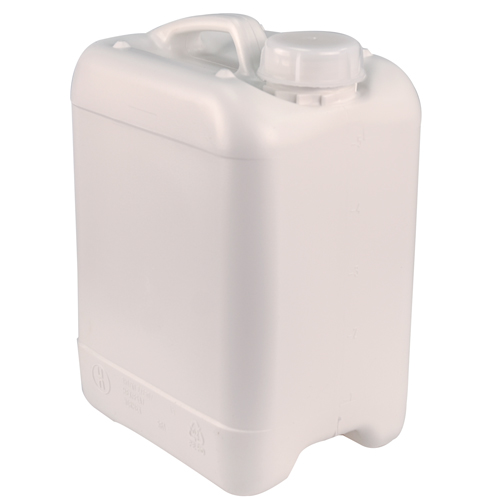 White 5 Liter Baritainers® Jerrican w/50mm Neck  (Cap Sold Separately)