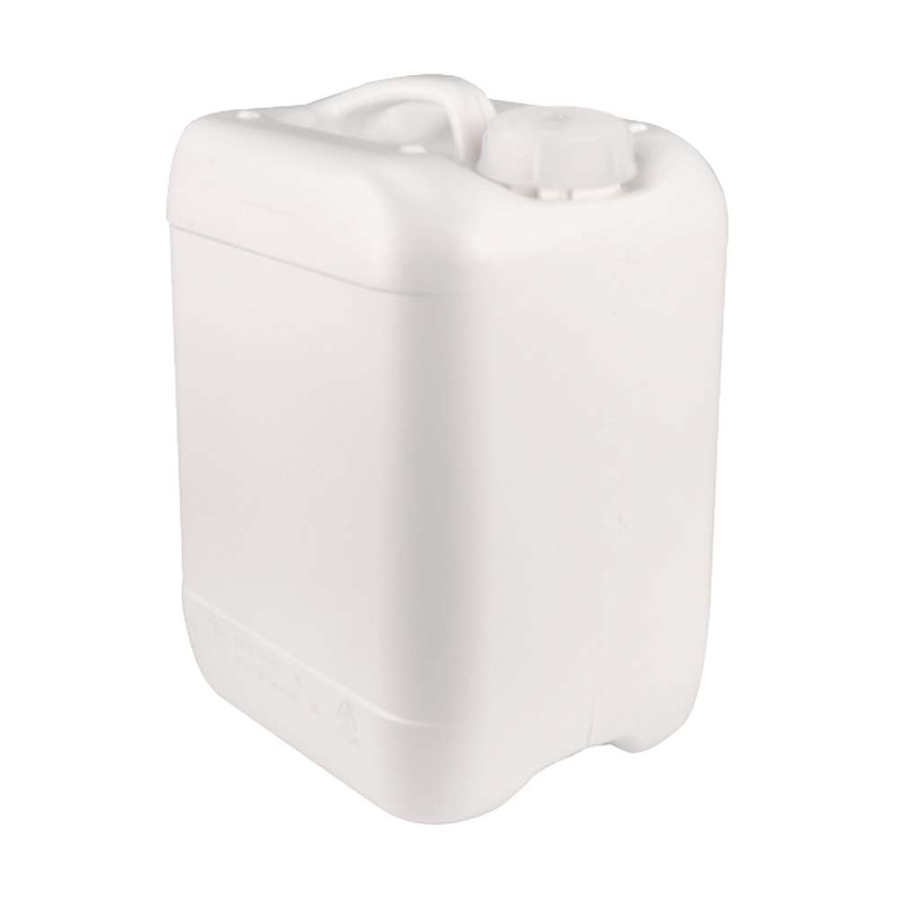 White 10 Liter Baritainers® Jerrican w/50mm Neck  (Cap Sold Separately)