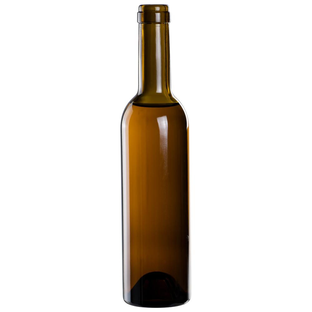 375mL Antique Green Punt Bottom Glass Bottle with Cork Neck