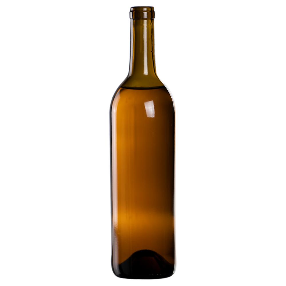 750mL Antique Green Punt Bottom Glass Bottle with Cork Neck