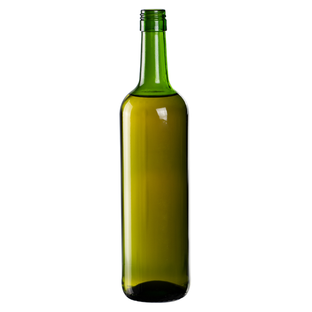 750mL Champagne Green Mini Punt Bottom Glass Bottle with Screw Top