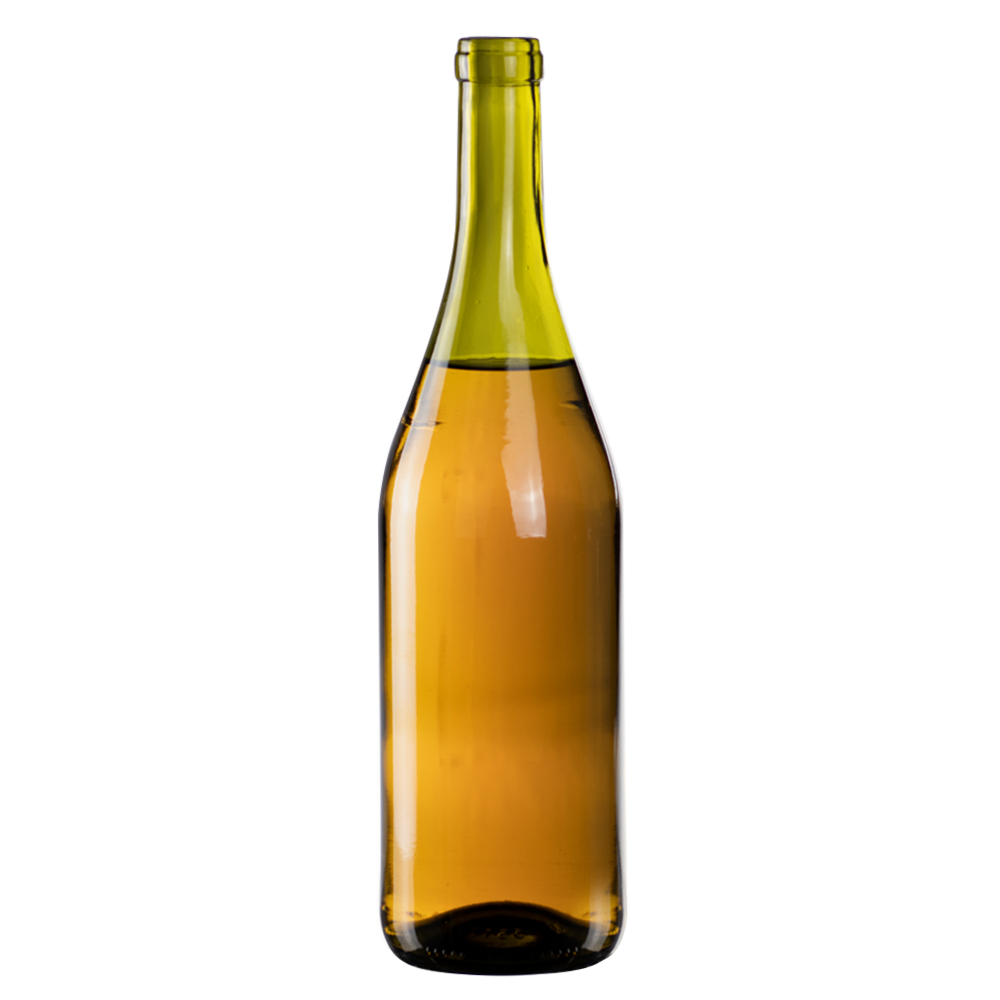 750mL Dead Leaf Glass Mini Punt Bottom Bottle w/ Tall Cork Neck