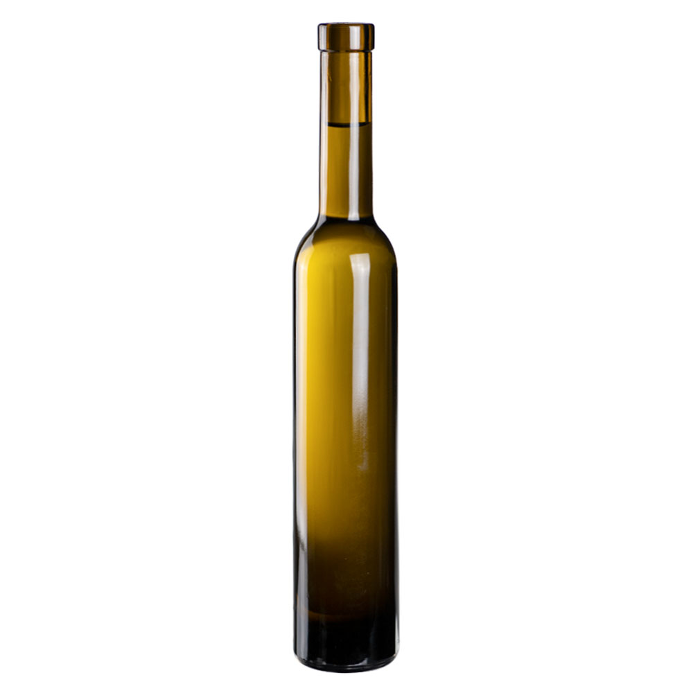 375mL Antique Green Mini Punt Bottom Glass Bottle with Bar Top Neck