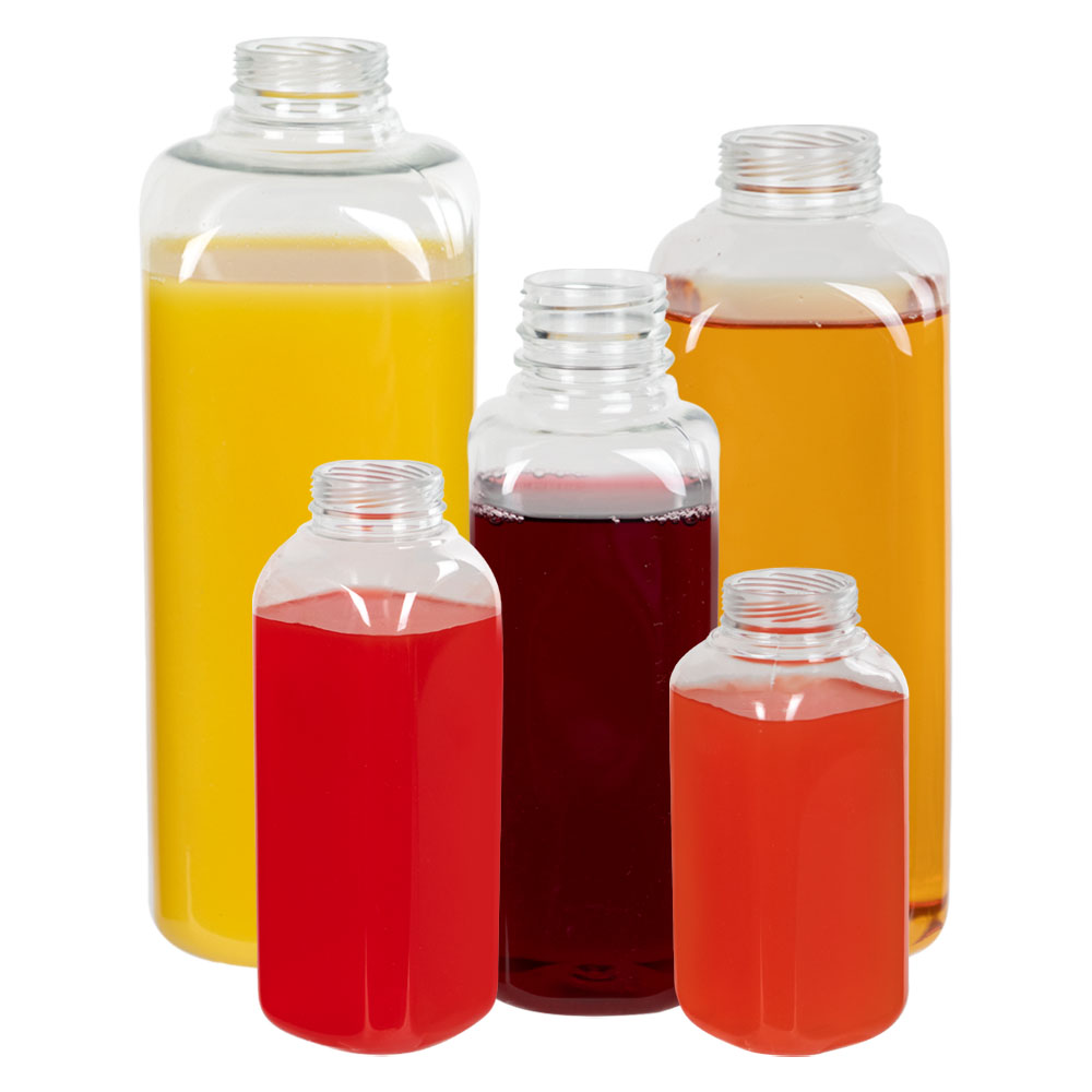 French Square PET Beverage Bottles