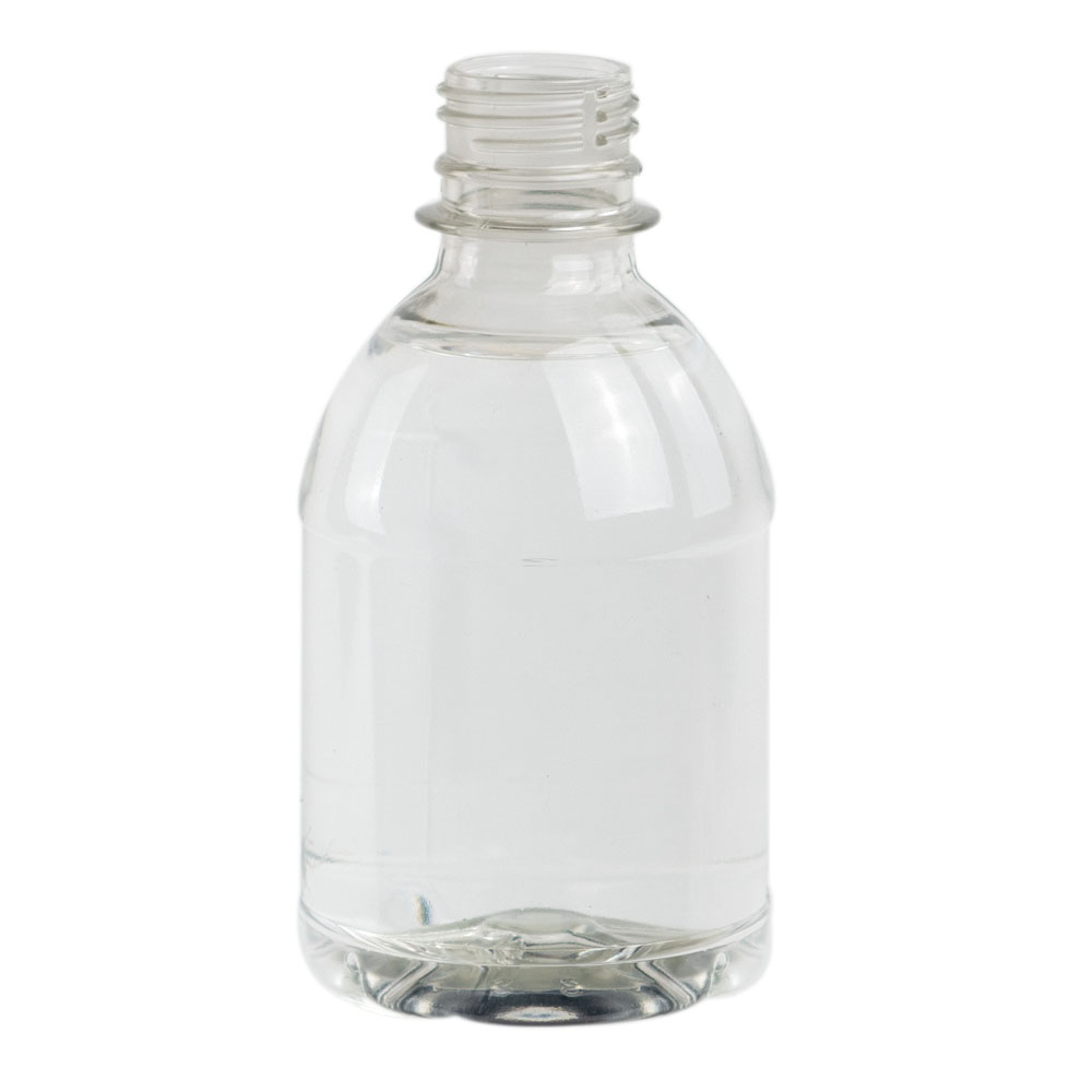 8 oz. Clear PET Water Bottle with 28mm PCO Neck (Cap Sold Separately)