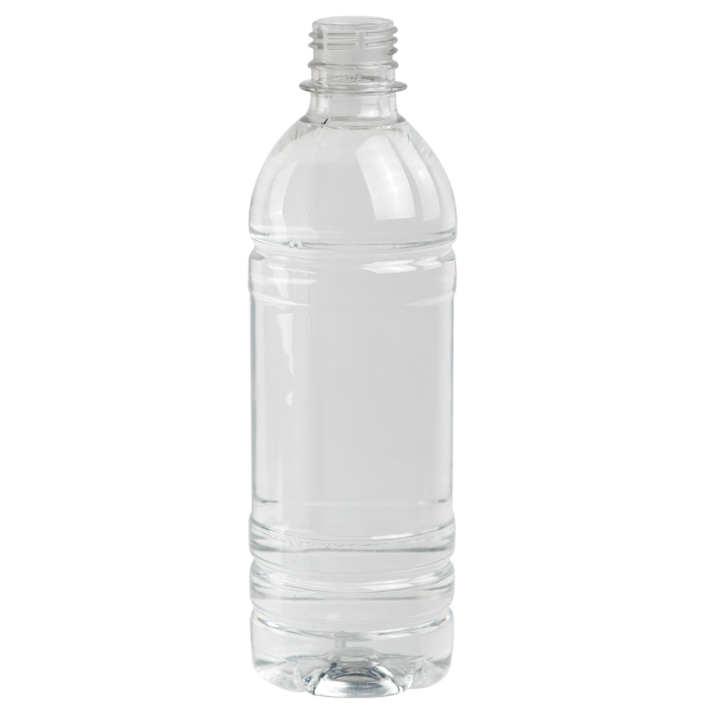 16.9 oz. Clear PET Water Bottle with 28mm PCO Neck (Cap Sold Separately)