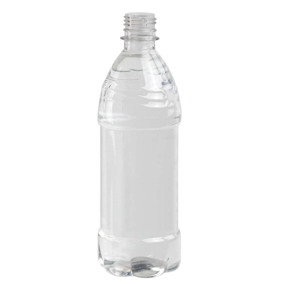 20 oz. Clear PET Water Boy Bottle with 28mm PCO Neck (Cap Sold Separately)