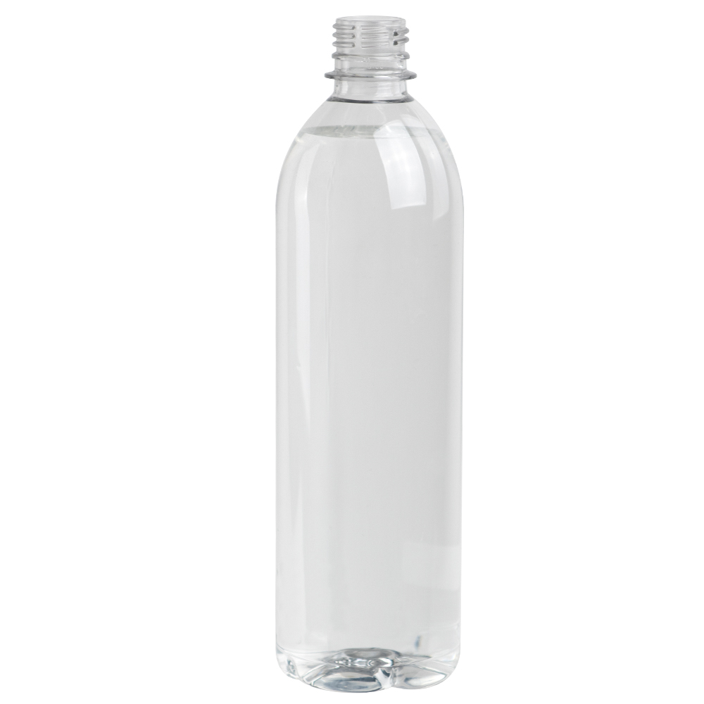 24 oz. Clear PET Smooth Water Bottle with 28mm PCO Neck (Cap Sold Separately)