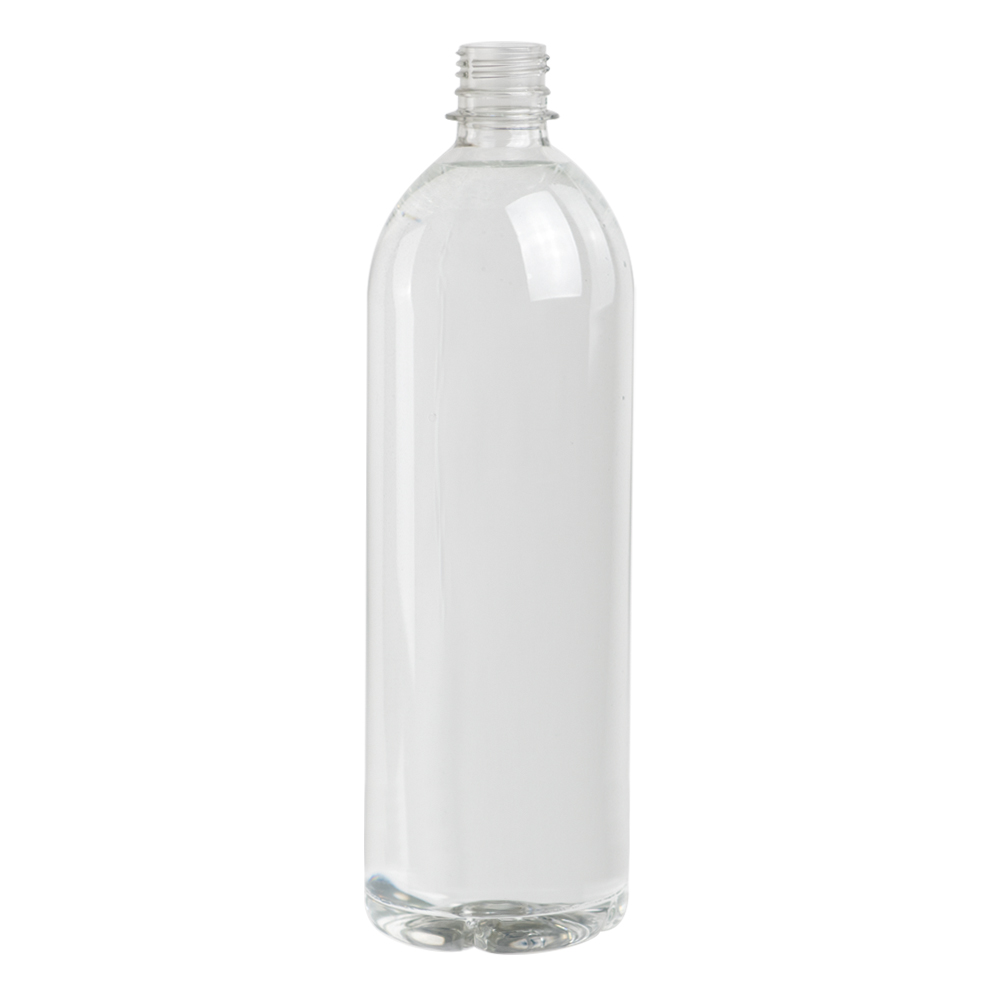 33.81 oz. Clear PET Smooth Water Bottle with 28mm PCO Neck (Cap Sold Separately)