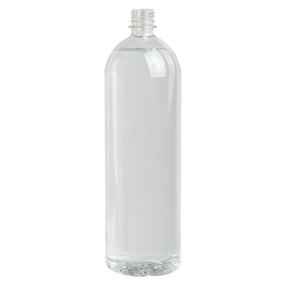 50.72 oz. Clear PET Smooth Water Bottle with 28mm PCO Neck (Cap Sold Separately)