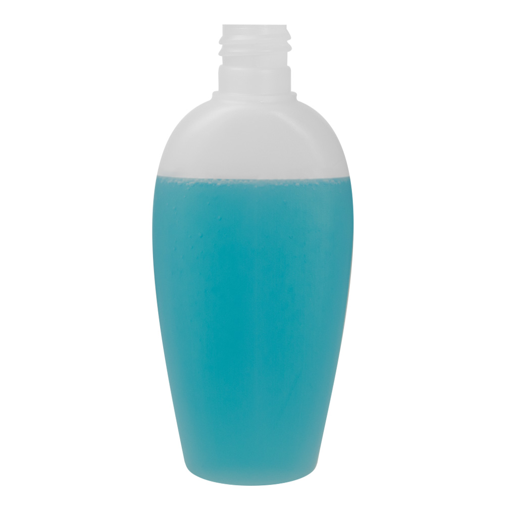 100mL Natural Olivia Oval HDPE Bottle with 20/415 Neck (Cap Sold Separately)