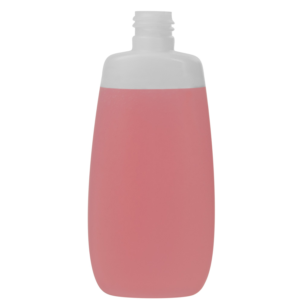 125mL Natural Flat Oval HDPE Bottle with 20/415 Neck (Cap Sold Separately)