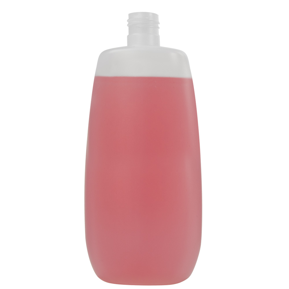 500mL Natural Flat Oval HDPE Bottle with 24/415 Neck (Cap Sold Separately)