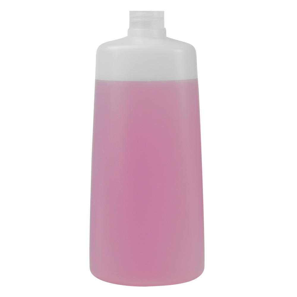 350mL Natural Lisbon Oblong HDPE Bottle with 24/410 Neck