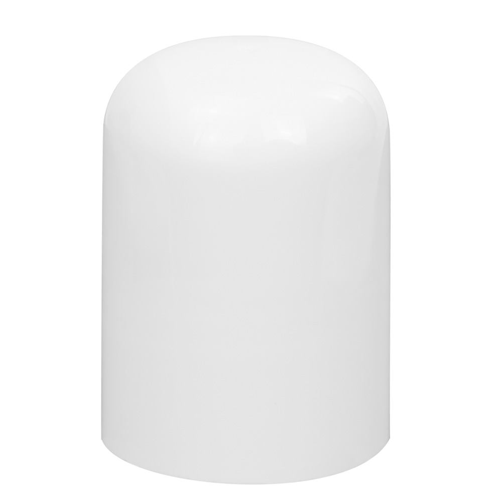 24/415 White Polypropylene Tall Dome Cap with Bore Seal