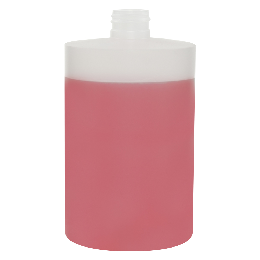 500mL Midi Natural HDPE Tubular Bottle with 24/410 Neck (Cap Sold Separately)