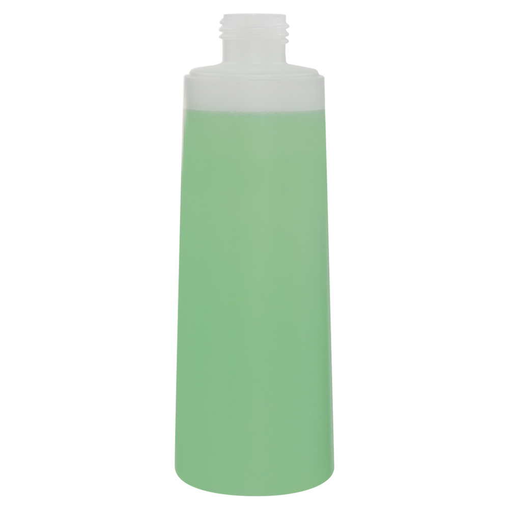 250mL Natural HDPE Flared Tubular Bottle with 24/410 Neck (Cap Sold Separately)