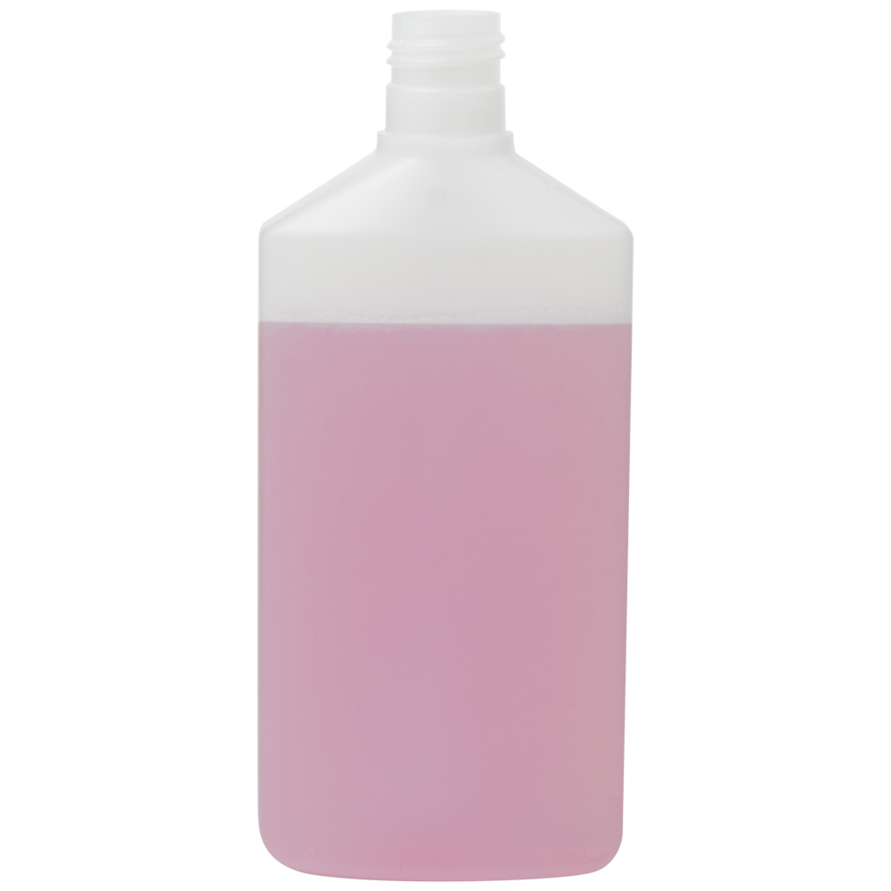 250mL Natural HDPE Daily Flat Oval Bottle with 24/415 Neck (Cap Sold Separately)